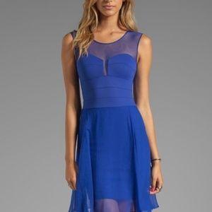 BCBG Max Miranda sheer dress royal blue 04